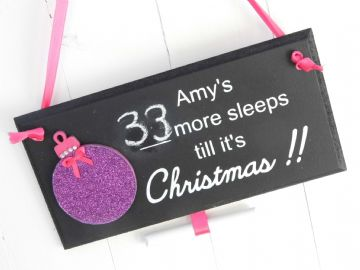 Christmas Countdown Sign - Christmas Bauble
